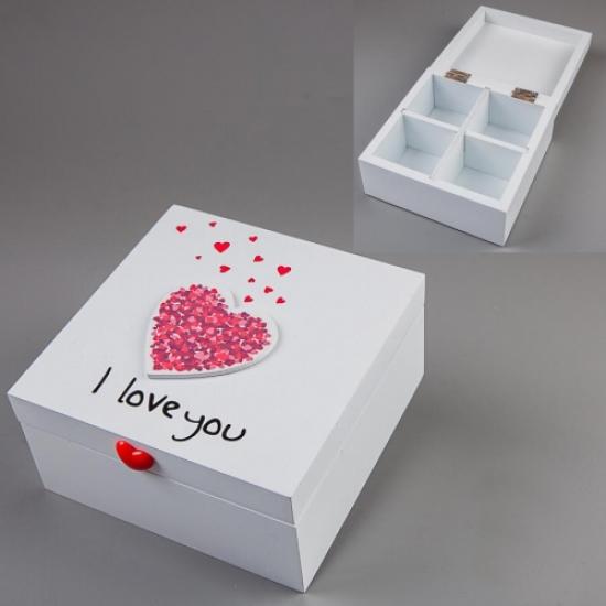 Фото - Шкатулка I Love You 14х14х7см купить в киеве на подарок, цена, отзывы