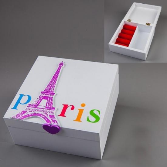 Фото - Шкатулка Париж 15х15х7см купить в киеве на подарок, цена, отзывы