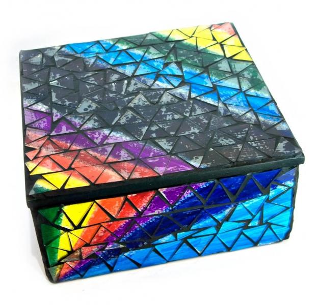 Фото - Шкатулка для украшений мозаичная 17Х17Х8 см купить в киеве на подарок, цена, отзывы