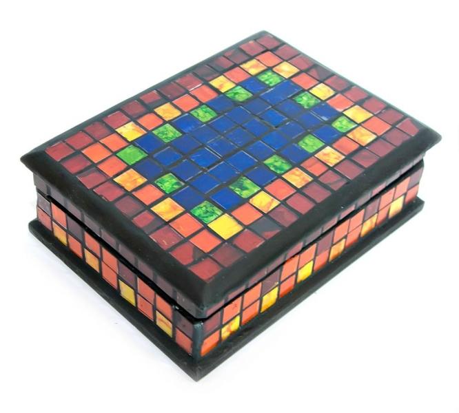 Фото - Шкатулка для украшений радуга мозаичная 18Х13Х5,5 см купить в киеве на подарок, цена, отзывы