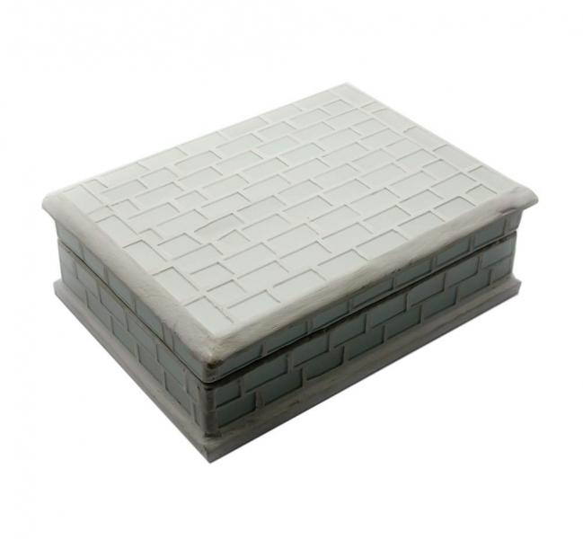 Фото - Шкатулка для украшений с мозаикой белая 18,5Х13,5 Х 6 см купить в киеве на подарок, цена, отзывы