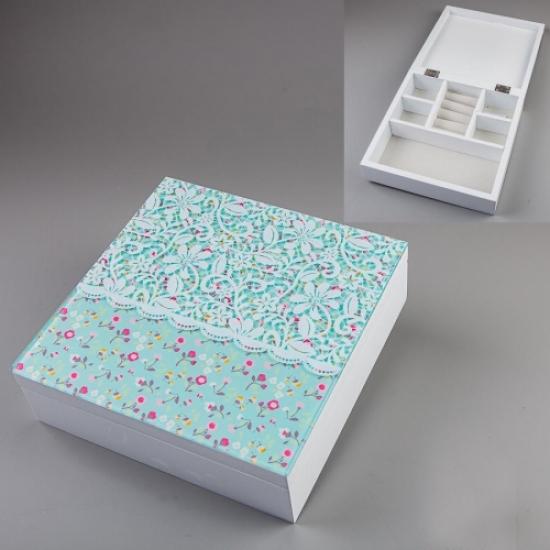 Фото - Шкатулка нежные цветы 20х20х6см купить в киеве на подарок, цена, отзывы
