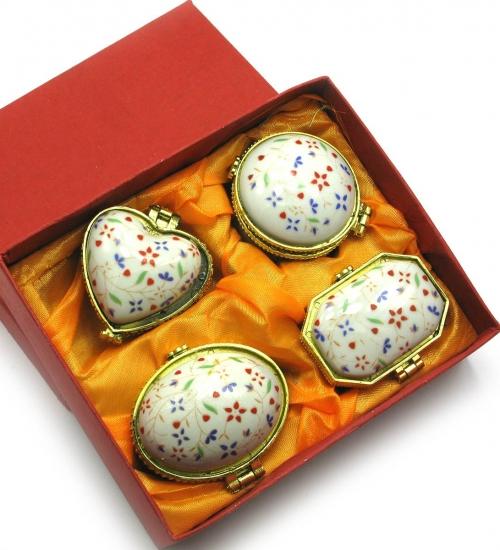 Фото - Шкатулки керамические 4 шт 13,5Х11Х4 купить в киеве на подарок, цена, отзывы