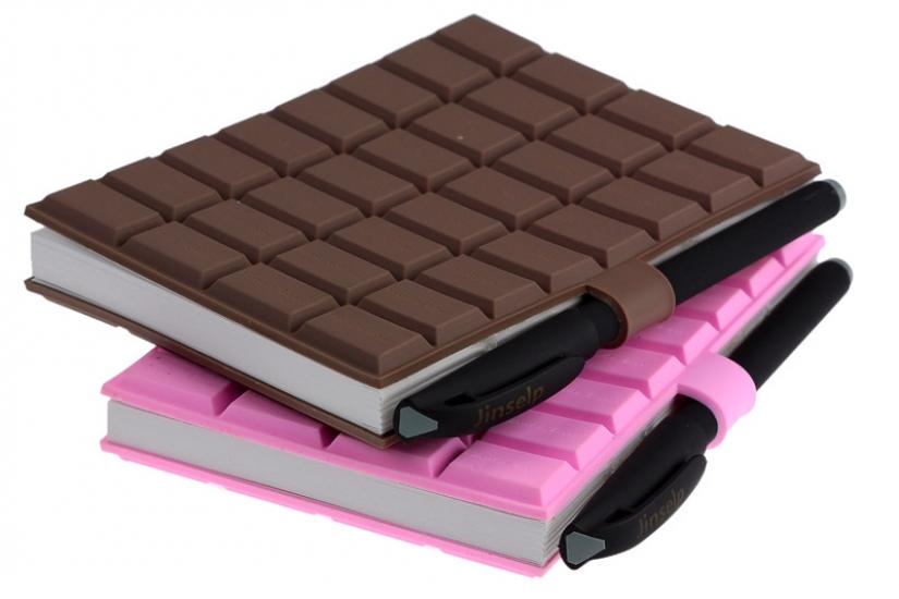 Фото - Шоколадка  блокнот большой с ручкой 2 цвета купить в киеве на подарок, цена, отзывы