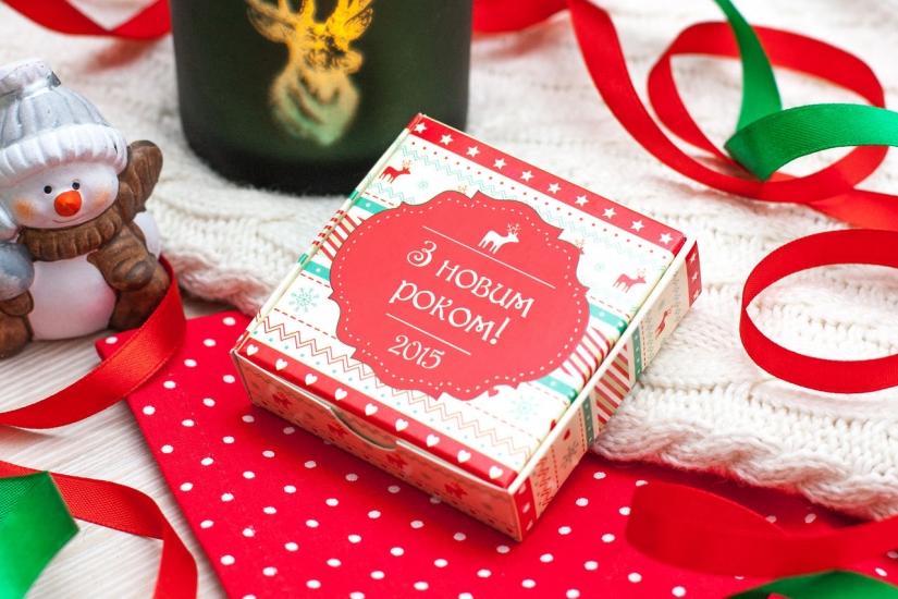 Фото - Шоколадный мини-набор З новим роком купить в киеве на подарок, цена, отзывы