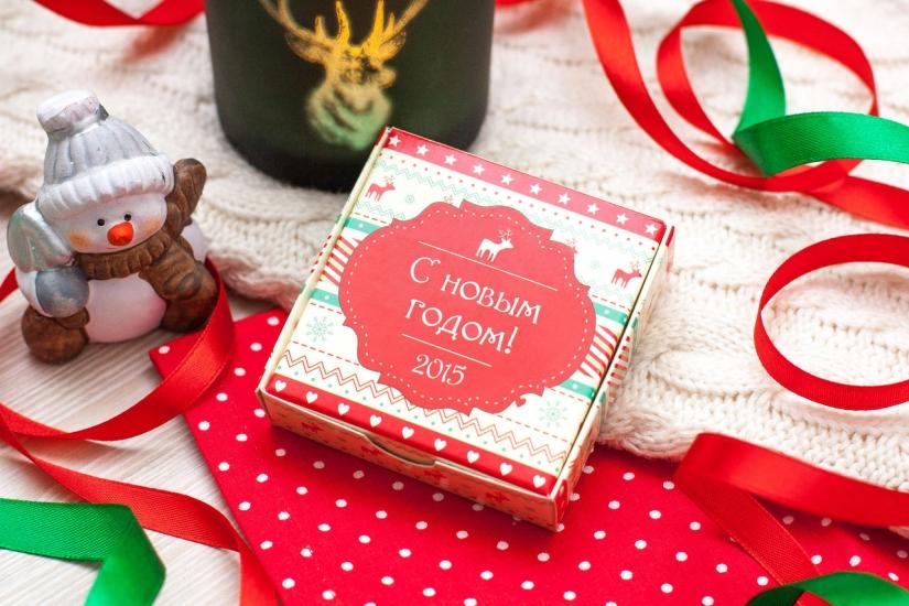 Фото - Шоколадный набор С Новым годом на 20 плиточек купить в киеве на подарок, цена, отзывы