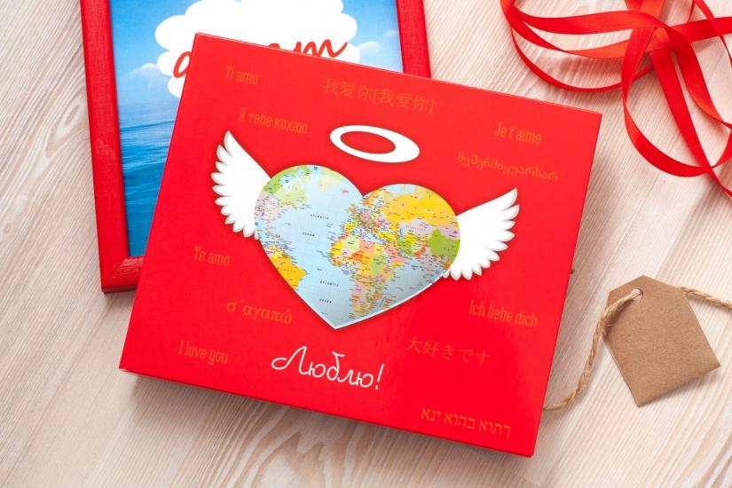 Фото - Шоколадный набор XL Люблю купить в киеве на подарок, цена, отзывы