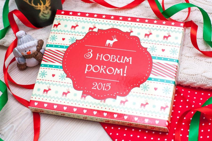 Фото - Шоколадный набор XL З Новим Роком! купить в киеве на подарок, цена, отзывы