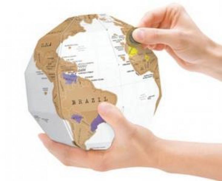 Фото - Скретч карта мира в форме глобуса купить в киеве на подарок, цена, отзывы