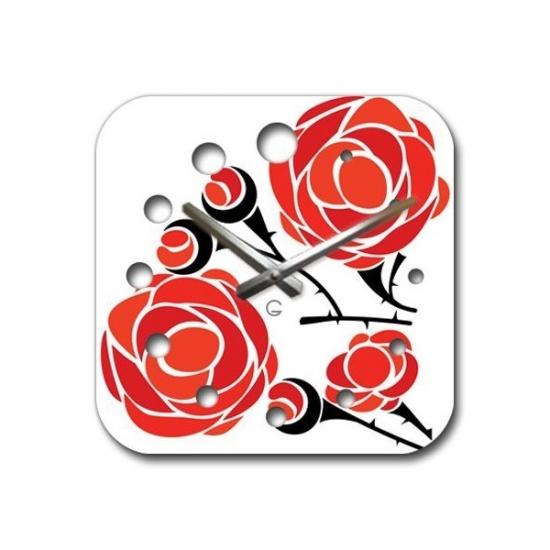 Фото - Современные настенные часы  Rose купить в киеве на подарок, цена, отзывы