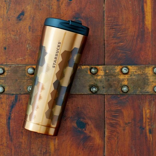 Фото - Стальная Термокружка Starbucks  Соты купить в киеве на подарок, цена, отзывы