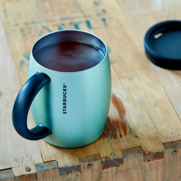 Фото - Стальная термочашка Starbucks  Мята купить в киеве на подарок, цена, отзывы