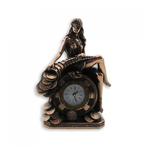 Фото - Статуэтка Фортуна с рогом изобилия часы купить в киеве на подарок, цена, отзывы