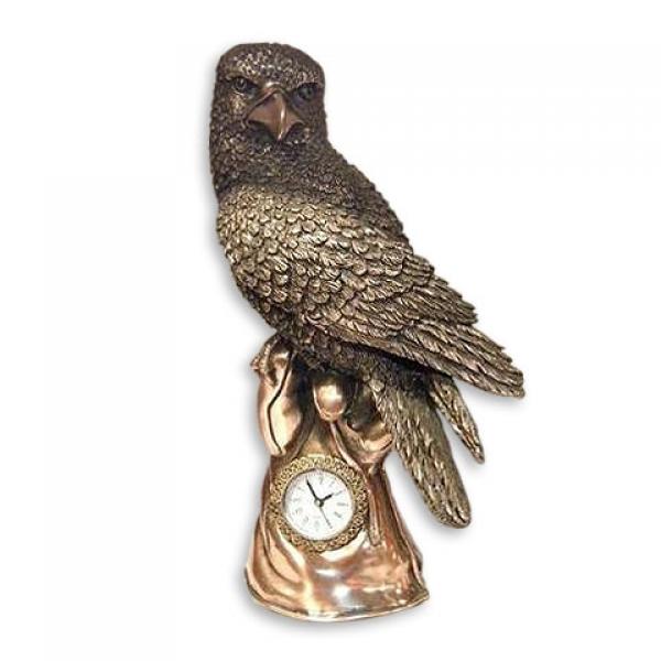 Фото - Статуэтка Сокол на руке с часами купить в киеве на подарок, цена, отзывы
