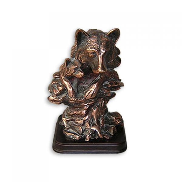 Фото - Статуэтка  голова волк и волченок купить в киеве на подарок, цена, отзывы