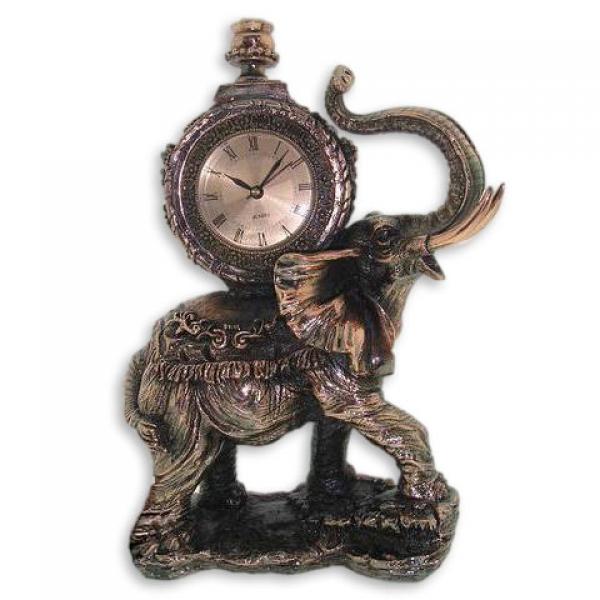 Фото - Статуэтка  слон с часами купить в киеве на подарок, цена, отзывы