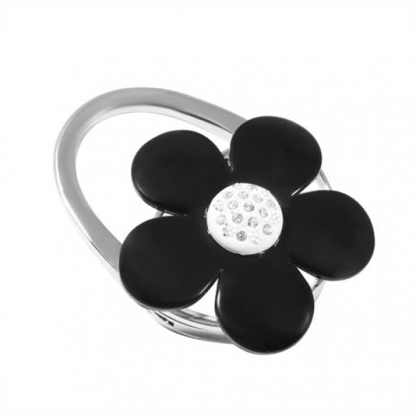 Фото - Сумкодержатель черный цветок купить в киеве на подарок, цена, отзывы