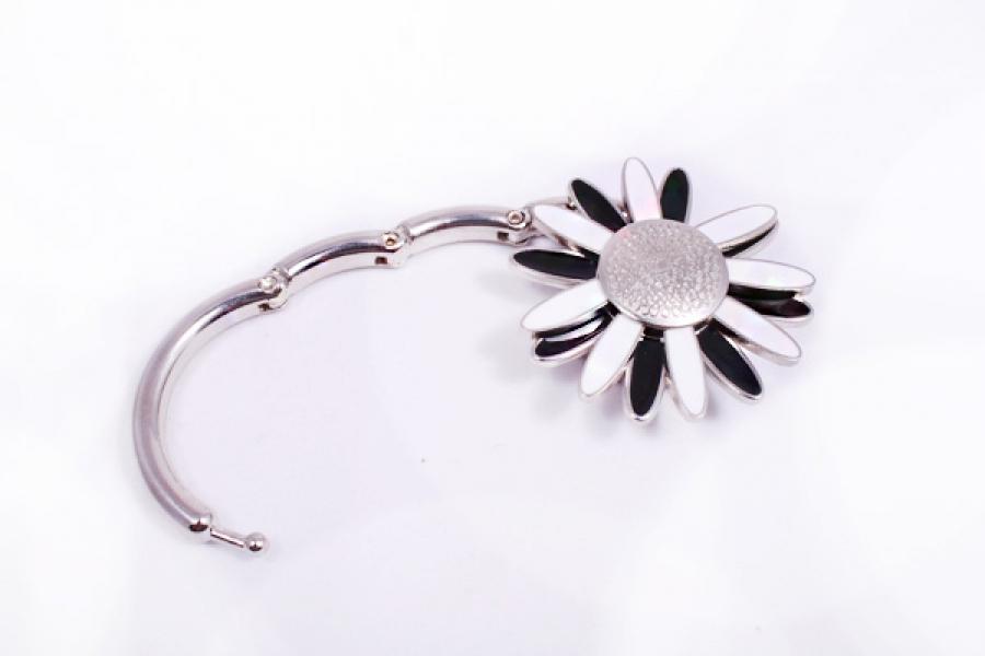 Фото - Сумкодержатель ромашка черно белая купить в киеве на подарок, цена, отзывы