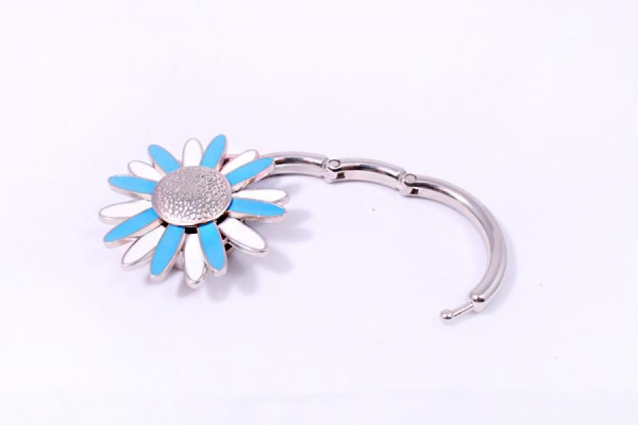 Фото - Сумкодержатель ромашка голубая с белым купить в киеве на подарок, цена, отзывы