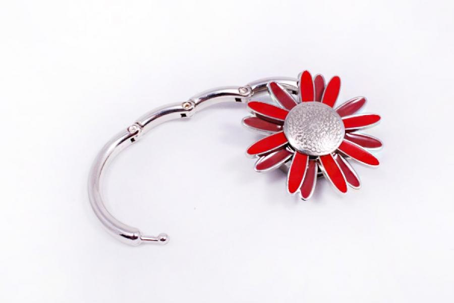 Фото - Сумкодержатель ромашка красная с коричневым купить в киеве на подарок, цена, отзывы