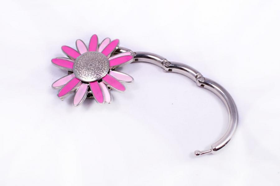 Фото - Сумкодержатель ромашка розовая с белым купить в киеве на подарок, цена, отзывы