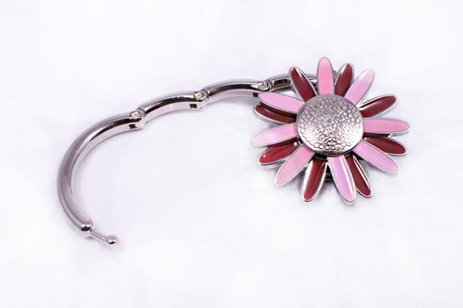 Фото - Сумкодержатель ромашка розовая с коричневым купить в киеве на подарок, цена, отзывы