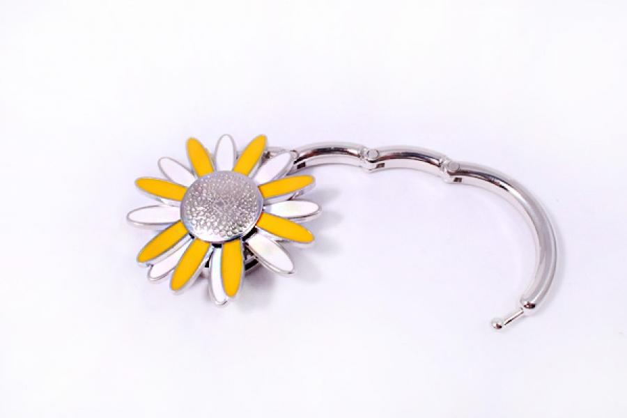 Фото - Сумкодержатель ромашка желтая с белым купить в киеве на подарок, цена, отзывы