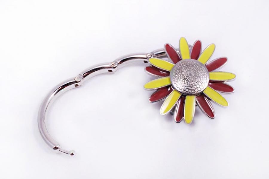 Фото - Сумкодержатель ромашка желтая с коричневым купить в киеве на подарок, цена, отзывы