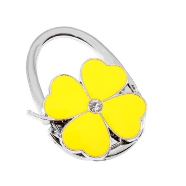 Фото - Сумкодержатель сумочка цветок клевера желтый купить в киеве на подарок, цена, отзывы