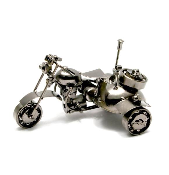 Фото - Техно-арт байк с мотоколяской 15Х10Х10 см купить в киеве на подарок, цена, отзывы