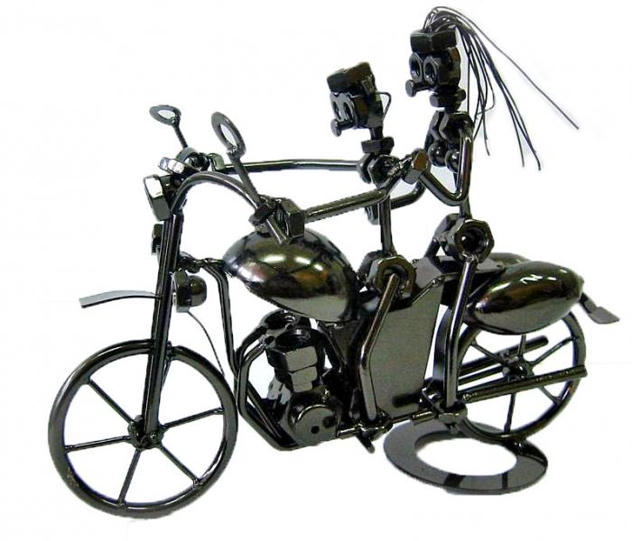 Фото - Техно арт Байкеры металл 22.5Х28Х15 см купить в киеве на подарок, цена, отзывы