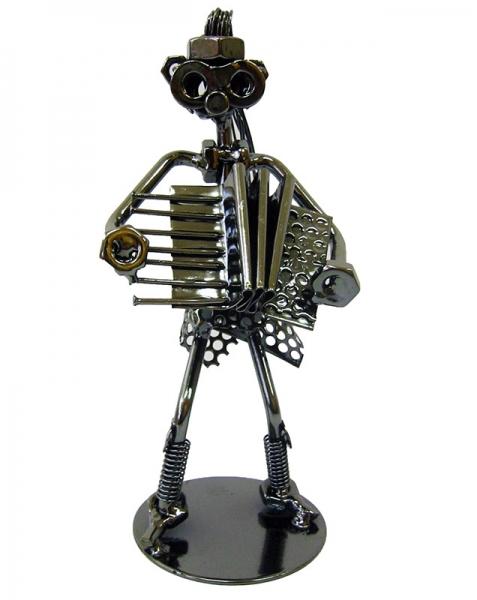 Фото - Техно арт дама с баяном металл 18,5Х8Х7,5 см купить в киеве на подарок, цена, отзывы