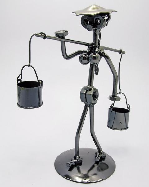Фото - Техно арт девушка с коромыслом металл 20,5Х12,5Х8,5 см купить в киеве на подарок, цена, отзывы
