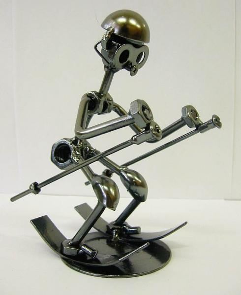 Фото - Техно арт лыжник металл 15Х10Х7 см купить в киеве на подарок, цена, отзывы