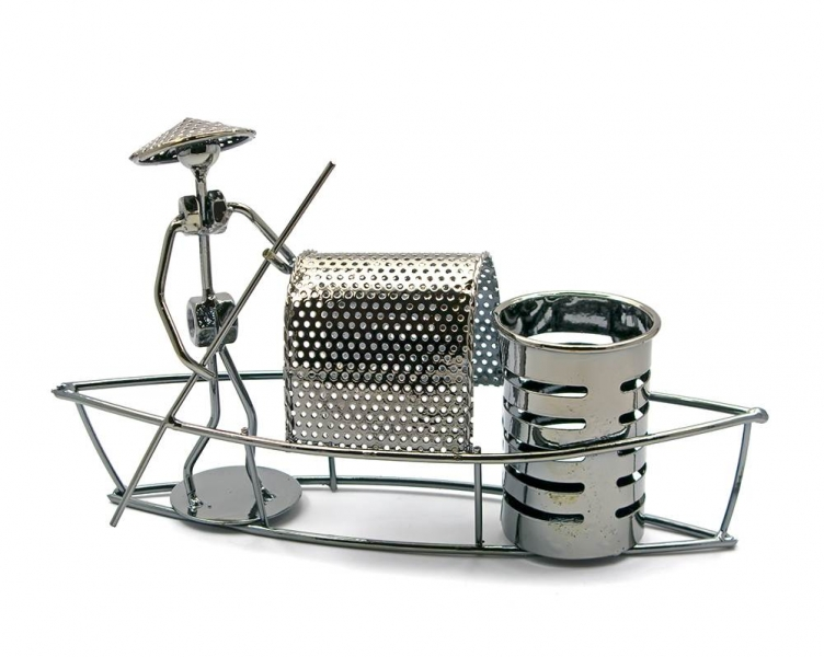 Фото - Техно арт подставка для лодка  металл 15,5Х27Х7,5 см купить в киеве на подарок, цена, отзывы