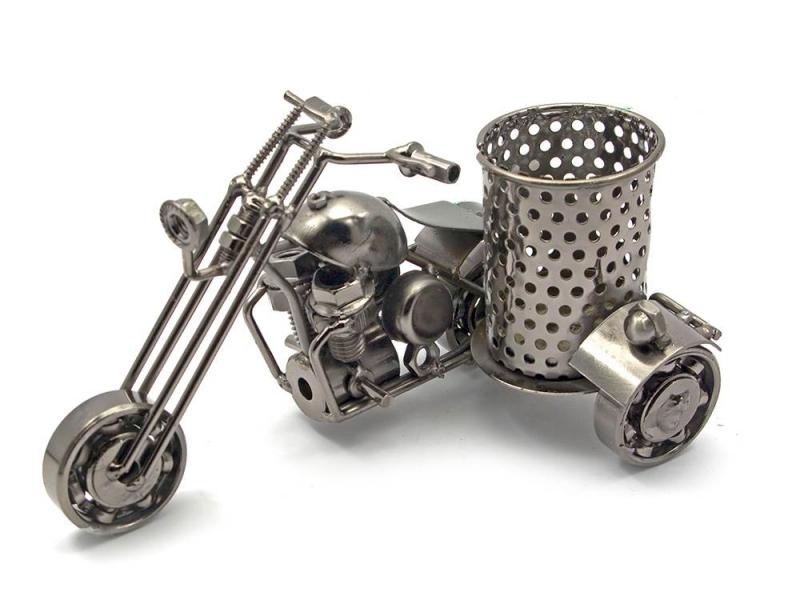 Фото - Техно арт подставка для ручек байк металл 16Х8Х9,5 см купить в киеве на подарок, цена, отзывы