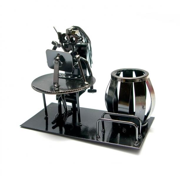 Фото - Техно арт подставка для ручек секретарша металл 26Х11Х8 см купить в киеве на подарок, цена, отзывы