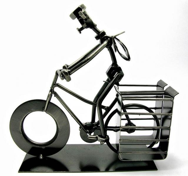 Фото - Техно арт подставка для ручек велосипедист металл 19Х21Х7,5 см купить в киеве на подарок, цена, отзывы