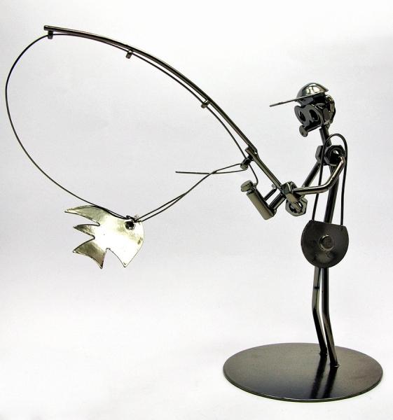 Фото - Техно арт спиннингист металл 19Х21Х10 см купить в киеве на подарок, цена, отзывы