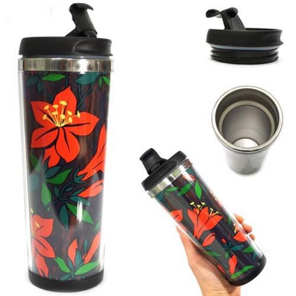 Фото - Термокружка Красный цветок  купить в киеве на подарок, цена, отзывы