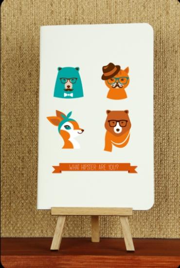 Фото - Тетрадь Hipster animals 3 купить в киеве на подарок, цена, отзывы