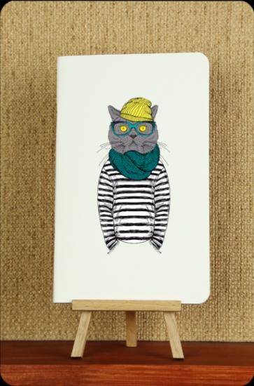 Фото - Тетрадь Hipster cat Моряк mini  купить в киеве на подарок, цена, отзывы