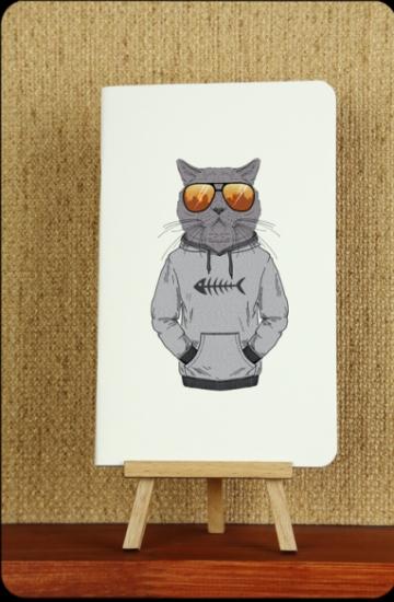 Фото - Тетрадь Hipster cat Рыбак mini купить в киеве на подарок, цена, отзывы