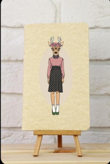 Фото - Тетрадь  Hipster Girls Олень купить в киеве на подарок, цена, отзывы