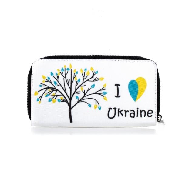 Фото - Тканевый кошелек I love Ukraine купить в киеве на подарок, цена, отзывы