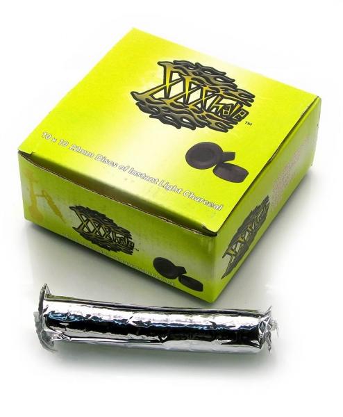 Фото - УГОЛЬ для кальяна (100 таблеток в упаковке) (12,5Х13Х5,5 см) купить в киеве на подарок, цена, отзывы