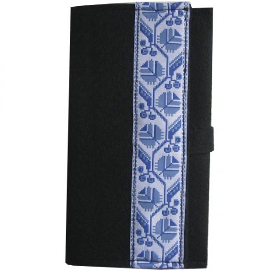 Фото - Украинский блокнот голубая вышиванка  купить в киеве на подарок, цена, отзывы