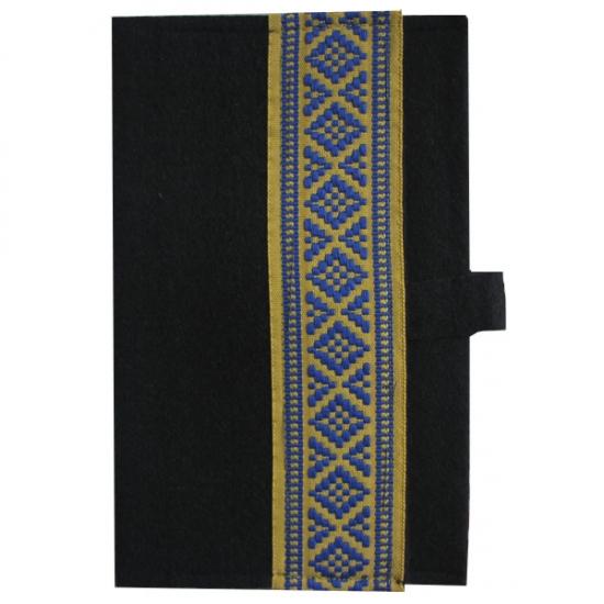 Фото - Украинский блокнот желтая с синим вышиванка купить в киеве на подарок, цена, отзывы
