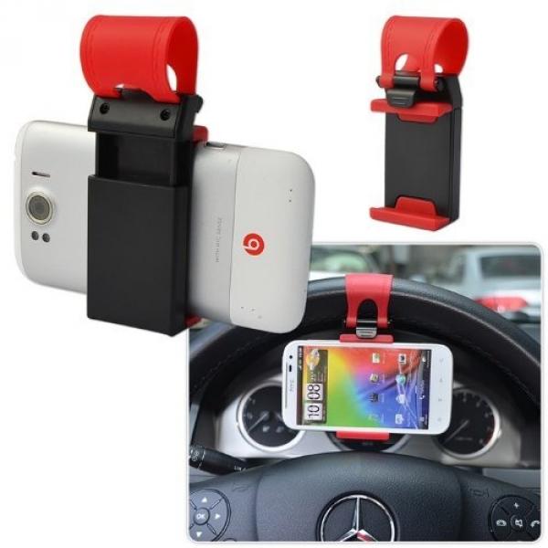 Фото - Универсальный держатель Car Steering Wheel Phone  купить в киеве на подарок, цена, отзывы