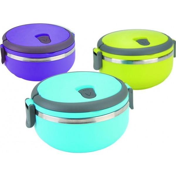Фото - Вакуумный пищевой термос ланч-бокс 0.7 л круглый купить в киеве на подарок, цена, отзывы